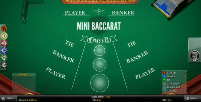 Play Mini Baccarat Online For Free